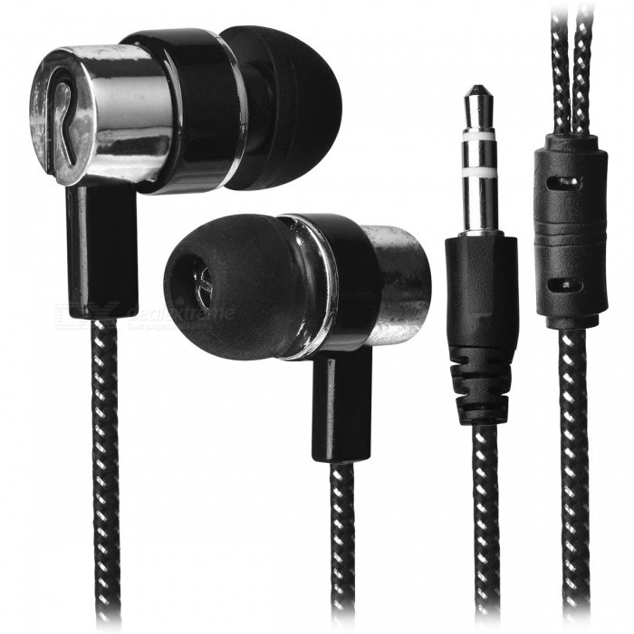 Stylish Woven Cable In-Ear Earphone for Cell Phone/Tablet PC