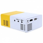 YG-300 LCD Projector 600LM 1080P Portable Media Player - Yellow (US)
