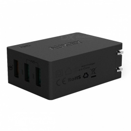 AUKEY-PA-T2-Quick-Charge-20-Wall-Charger-3-USB-Port-Black-(US-Plug)