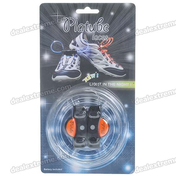 Stylish 3-Mode Flashing Colored LED Bootlaces/Shoelaces (Pair/Color Assorted)