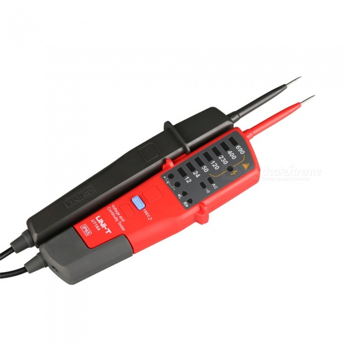 UNI-T UT18A Voltage and Continuity Tester - Red, Black