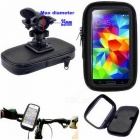 Universal Bicycle Motorcycle Phone Holder Stand - Black (XL)