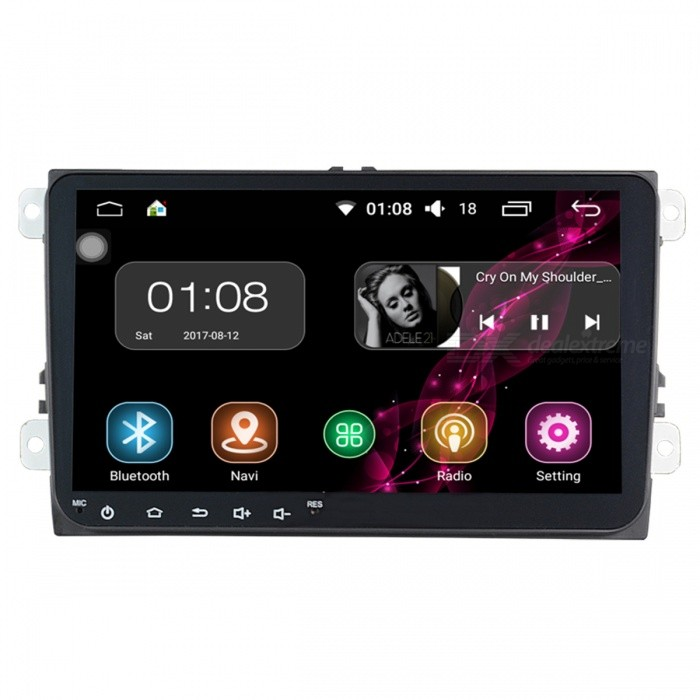 Funrover 9quot 1024 Android Car Player Stereo Navigation Seat Quad-Core Car Player, GPS, Radio, Wi-Fi, 3G, 4G Rearview Camera VW