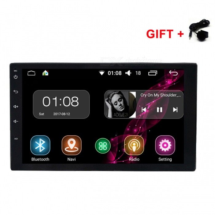 Funrover 1024 x 600 HD Quad-Core Android 6.0 Uniersal Car Radio Player
