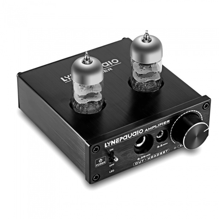 LINEPAUDIO A962 6J9 Electronic Tube Headphone Signal AmplifierAV Adapters And Converters<br>Form  ColorBlackModelA962MaterialAluminium alloyQuantity1 DX.PCM.Model.AttributeModel.UnitShade Of ColorBlackConnector6.35mmPower Supply220VPacking List1 x Amplifier USB ASIO sound card2 x 6J9-J vacuum tubes1 x USB cable (150cm-legnth)1 x DC9V power adapter (US Plug/100cm-cable)<br>