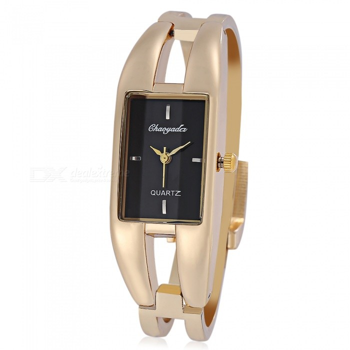 Chaoyada 1133 Bracelet Style Womens Quartz Wrist Watch - Gold + BlackWomens Dress Watches<br>Form  ColorGolden + BlackModel1133Quantity1 DX.PCM.Model.AttributeModel.UnitShade Of ColorGoldCasing MaterialElectroplating alloyWristband MaterialElectroplating alloyGenderWomenSuitable forAdultsStyleWrist WatchTypeFashion watchesDisplayAnalogMovementQuartzDisplay Format12 hour formatWater ResistantFor daily wear. Suitable for everyday use. Wearable while water is being splashed but not under any pressure.Dial Diameter2 DX.PCM.Model.AttributeModel.UnitDial Thickness0.9 DX.PCM.Model.AttributeModel.UnitBand Width1.1 DX.PCM.Model.AttributeModel.UnitWristband Length22 DX.PCM.Model.AttributeModel.UnitBattery1 x LR626 battery (included)Packing List1 x Watch<br>