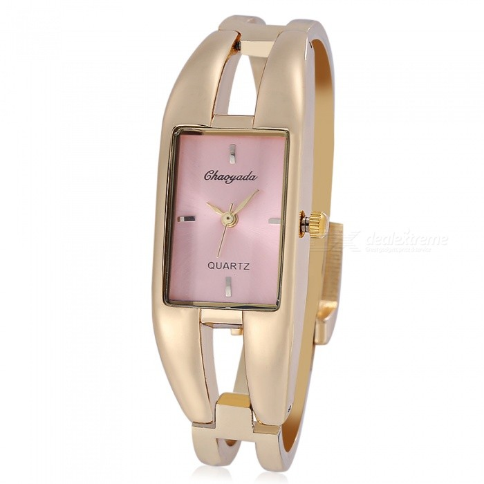 Chaoyada 1133 Bracelet Style Womens Quartz Wrist Watch - Gold + PinkWomens Dress Watches<br>Form  ColorGolden + Light PinkModel1133Quantity1 DX.PCM.Model.AttributeModel.UnitShade Of ColorGoldCasing MaterialElectroplating alloyWristband MaterialElectroplating alloyGenderWomenSuitable forAdultsStyleWrist WatchTypeFashion watchesDisplayAnalogMovementQuartzDisplay Format12 hour formatWater ResistantFor daily wear. Suitable for everyday use. Wearable while water is being splashed but not under any pressure.Dial Diameter2 DX.PCM.Model.AttributeModel.UnitDial Thickness0.9 DX.PCM.Model.AttributeModel.UnitBand Width1.1 DX.PCM.Model.AttributeModel.UnitWristband Length22 DX.PCM.Model.AttributeModel.UnitBattery1 x LR626 battery (included)Packing List1 x Watch<br>