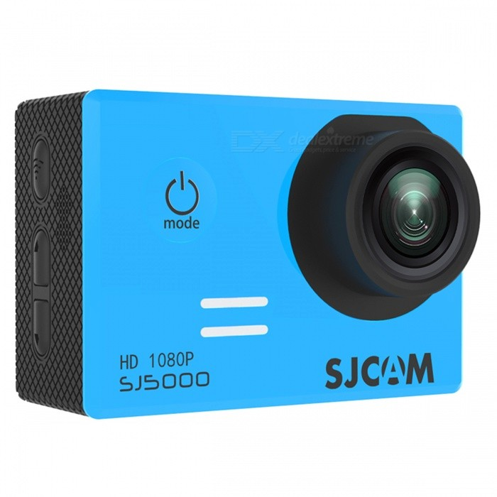 SJCAM SJ5000 Wi-Fi 2.0 TFT 14MP 1080P Action Sport Camera - BlueSport Cameras<br>Form  ColorBlueModelSJ5000 WiFiShade Of ColorBlueMaterialABS plasticQuantity1 DX.PCM.Model.AttributeModel.UnitImage SensorCMOSImage Sensor SizeOthers,1/2.33Anti-ShakeYesFocal DistanceF= 2.8 DX.PCM.Model.AttributeModel.UnitFocusing RangeF= 2.8Optical ZoomNoDigital Zoom4XBuilt-in SpeedliteNoSpeedlite RangeNoApertureNoAperture RangeNoWide Angle170-degree A + high-definition wide-angle lensEffective Pixels14MPMax. Pixels14MP 4254x3264 DX.PCM.Model.AttributeModel.UnitImagesJPEGStill Image Resolution14M4254x3264<br>12M4000x3000<br>8M3264x2448<br>5M2560x1920<br>3M2048x1536         <br>2M Wide1920x1080VideoMOV,MP4Video ResolutionFull HD: 1920*1080P 30 fps<br>720P: 1280*720P 60/30 fps (double frame, not true 60fps)<br>480P: 640*480P 60/fpsVideo Frame Rate30,60Audio SystemStereoCycle RecordYesISOOthers,Auto, 100, 200, 400, 800, 1400Exposure Compensation-2;-1.7;-1.3;-1;-0.7;-0.3;0;+0.3;+0.7;+1;+1.3;+1.7;+2.0Scene ModeAutoWhite Balance ModeOthers,AutoSupports Card TypeTFSupports Max. Capacity32 DX.PCM.Model.AttributeModel.UnitBuilt-in Memory / RAMNoInput InterfaceMicOutput InterfaceMicro USB,Mini HDMILCD ScreenYesScreen TypeTFTScreen Size2.0 DX.PCM.Model.AttributeModel.UnitScreen Resolution960*240Battery Measured Capacity 900 DX.PCM.Model.AttributeModel.UnitNominal Capacity900 DX.PCM.Model.AttributeModel.UnitBattery TypeLi-polymer batteryBattery included or notYesBattery Quantity1 DX.PCM.Model.AttributeModel.UnitVoltage3.7 DX.PCM.Model.AttributeModel.UnitBattery Charging Time3~4Low Battery AlertsYesWater ResistantWater Resistant 3 ATM or 30 m. Suitable for everyday use. Splash/rain resistant. Not suitable for showering, bathing, swimming, snorkelling, water related work and fishing.Supported LanguagesEnglish,Simplified Chinese,Traditional Chinese,Russian,Italian,French,GermanCertificationCE FCCPacking List1 x SJ5000 Wi-Fi Sports Camera1 Set x Accessories<br>