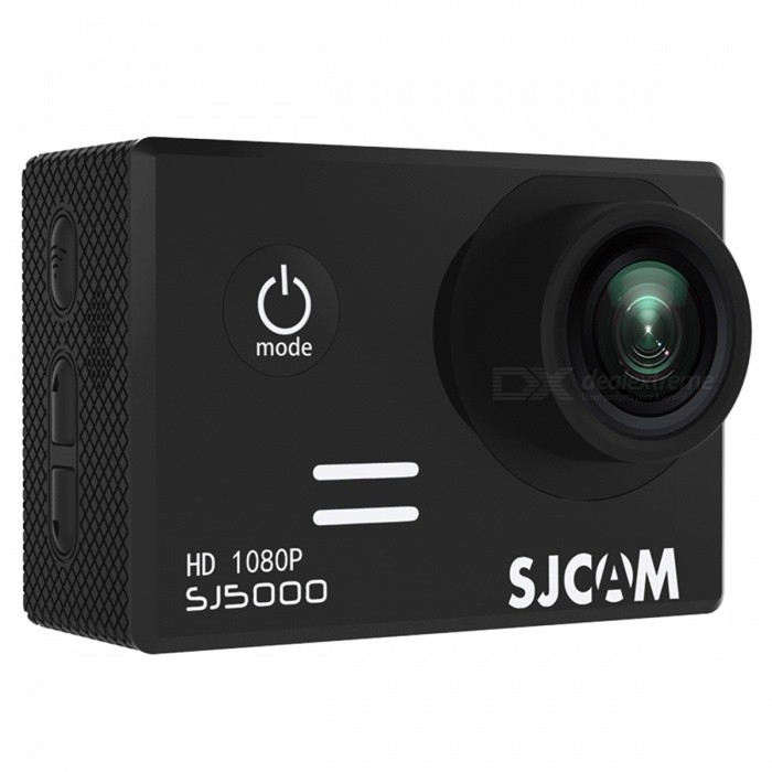 SJCAM SJ5000 Wi-Fi 2.0 TFT 14MP 1080P Action Sport Camera - BlackSport Cameras<br>Form  ColorBlackModelSJ5000 WiFiShade Of ColorBlackMaterialABS plasticsQuantity1 DX.PCM.Model.AttributeModel.UnitImage SensorCMOSImage Sensor SizeOthers,1/2.33Anti-ShakeYesFocal DistanceF= 2.8 DX.PCM.Model.AttributeModel.UnitFocusing RangeF= 2.8Optical ZoomNoDigital Zoom4XBuilt-in SpeedliteNoSpeedlite RangeNoApertureNoAperture RangeNoWide Angle170-degree A + high-definition wide-angle lensEffective Pixels14MPMax. Pixels14MP 4254x3264 DX.PCM.Model.AttributeModel.UnitImagesJPEGStill Image Resolution14M4254x3264<br>12M4000x3000<br>8M3264x2448<br>5M2560x1920<br>3M2048x1536         <br>2M Wide1920x1080VideoMOV,MP4Video ResolutionFull HD: 1920*1080P 30 fps<br>720P: 1280*720P 60/30 fps (double frame, not true 60fps)<br>480P: 640*480P 60/fpsVideo Frame Rate30,60Audio SystemStereoCycle RecordYesISOOthers,Auto, 100, 200, 400, 800, 1400Exposure Compensation-2;-1.7;-1.3;-1;-0.7;-0.3;0;+0.3;+0.7;+1;+1.3;+1.7;+2.0Scene ModeAutoWhite Balance ModeOthers,AutoSupports Card TypeTFSupports Max. Capacity32 DX.PCM.Model.AttributeModel.UnitBuilt-in Memory / RAMNoInput InterfaceMicOutput InterfaceMicro USB,Mini HDMILCD ScreenYesScreen TypeTFTScreen Size2.0 DX.PCM.Model.AttributeModel.UnitScreen Resolution960*240Battery Measured Capacity 900 DX.PCM.Model.AttributeModel.UnitNominal Capacity900 DX.PCM.Model.AttributeModel.UnitBattery TypeLi-polymer batteryBattery included or notYesBattery Quantity1 DX.PCM.Model.AttributeModel.UnitVoltage3.7 DX.PCM.Model.AttributeModel.UnitBattery Charging Time3~4Low Battery AlertsYesWater ResistantWater Resistant 3 ATM or 30 m. Suitable for everyday use. Splash/rain resistant. Not suitable for showering, bathing, swimming, snorkelling, water related work and fishing.Supported LanguagesEnglish,Simplified Chinese,Traditional Chinese,Russian,Italian,French,GermanCertificationCE FCCPacking List1 x SJ5000 WiFi Sports Camera1 x Set of Accessories<br>