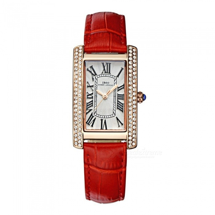 SPO Waterproof Rectangular Fashion Womens Quartz Watch - RedQuartz Watches<br>Form  ColorRedQuantity1 DX.PCM.Model.AttributeModel.UnitShade Of ColorRedCasing MaterialQuartzWristband MaterialLeatherSuitable forAdultsGenderWomenStyleWrist WatchTypeFashion watchesDisplayAnalogMovementQuartzDisplay Format12 hour formatWater ResistantWater Resistant 3 ATM or 30 m. Suitable for everyday use. Splash/rain resistant. Not suitable for showering, bathing, swimming, snorkelling, water related work and fishing.Dial Diameter3.2 DX.PCM.Model.AttributeModel.UnitDial Thickness8 DX.PCM.Model.AttributeModel.UnitWristband Length18 DX.PCM.Model.AttributeModel.UnitBand Width2 DX.PCM.Model.AttributeModel.UnitBattery621Packing List1 x Wrist Watch<br>