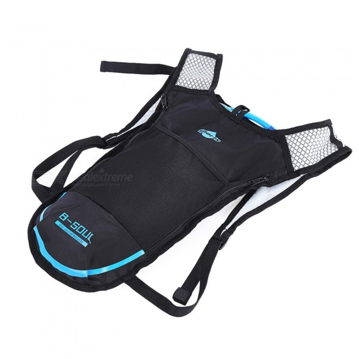B-SOUL 5L Riding Backpack with Water Bag - BlueForm  ColorBlueBrandOthers,Others,B-SOULModelN/AQuantity1 DX.PCM.Model.AttributeModel.UnitMaterialUltra light nylonTypeDaypackGear Capacity5 DX.PCM.Model.AttributeModel.UnitCapacity Range0L~20LRaincover includedNoBest UseClimbing,Mountaineering,CyclingTypeHydration PacksOther FeaturesN/APacking List1 x Water Bag1 x Hydration Bladder Backpack<br>