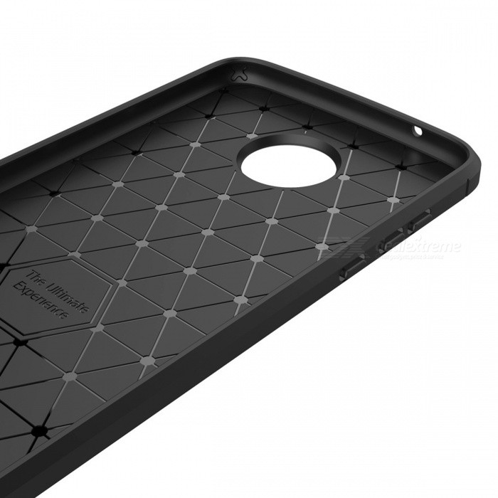 Dayspirit Wire Drawing Carbon Fiber TPU Case for Moto Z2 Play