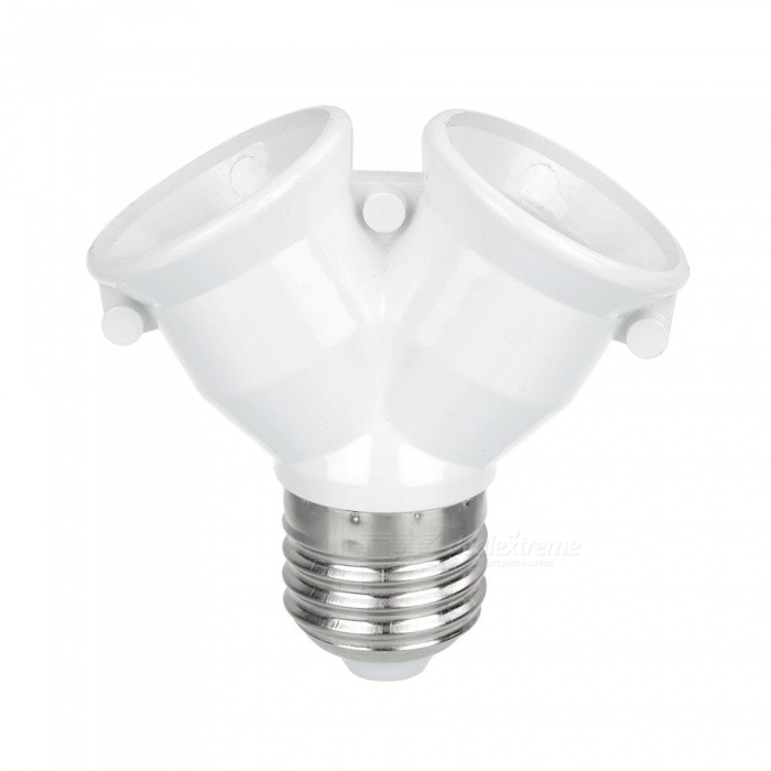 One E27 Male to Two E27 Female Y-Shape Lamp Bulb Convertor Splitter