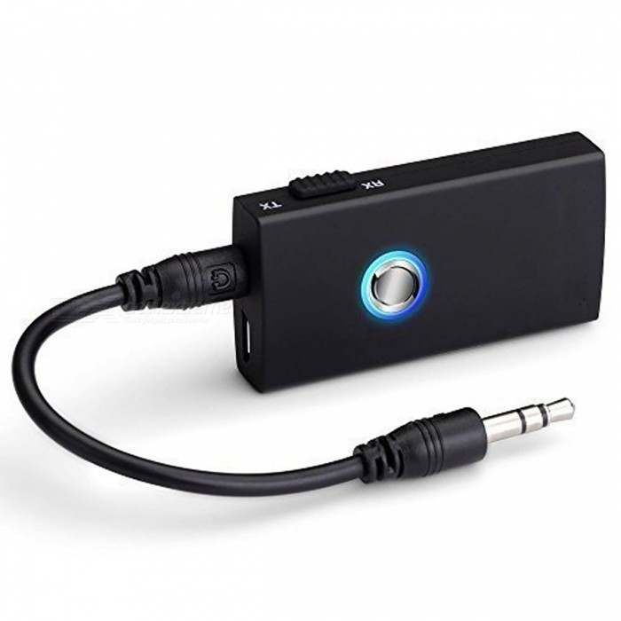 Bluetooth Wireless Audio Music Transmitter Receiver Adapter - Black