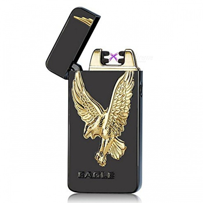 ZHAOYAO Eagle Style USB Rechargeable Flameless Cigarette LighterOther Lighters<br>Form  ColorBlackMaterialAlloyQuantity1 DX.PCM.Model.AttributeModel.UnitShade Of ColorBlackTypeUSBPower SupplyLithium batteryCharging Time2 DX.PCM.Model.AttributeModel.UnitPacking List1 x USB Cigarette Lighter1 x Charging cable<br>