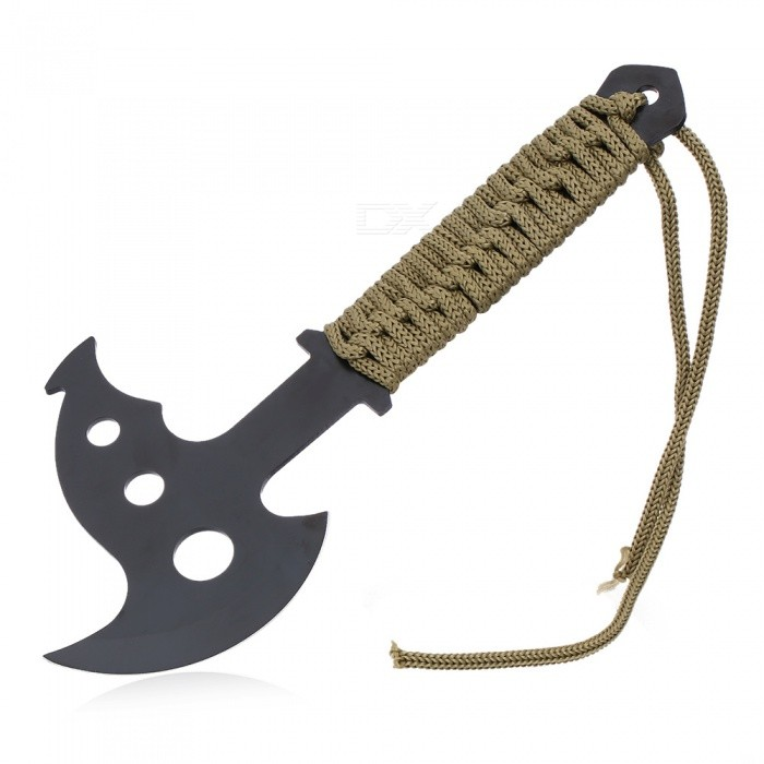 Multi-Functional Mini Outdoor Camping Axe with Paracord - BlackShovels ?Camp Tool<br>Form  ColorBlackMaterialStainless steelQuantity1 DX.PCM.Model.AttributeModel.UnitShade Of ColorBlackOther FeaturesN/APacking List1 x Axe with Paracord1 x Sheath<br>