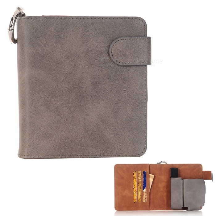 Buy S1 Protective PU Leather E-cigarette Bag Case / Cards Holder - Grey with Litecoins with Free Shipping on Gipsybee.com