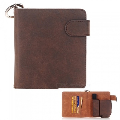 S1 Protective PU Leather E-cigarette Bag Case / Cards Holder - Coffee