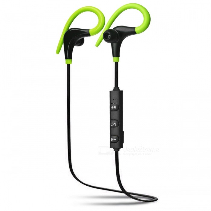 ZHAOAYAO Sports Waterproof Bluetooth Ear-hook Earphone - BlackHeadphones<br>Form  ColorBlack + GreenBrandOthers,ZHAOYAOMaterialABSQuantity1 DX.PCM.Model.AttributeModel.UnitConnectionBluetoothBluetooth VersionBluetooth V4.1Bluetooth ChipX6Operating Range7-10mHeadphone StyleBilateral,Earbud,In-Ear,Ear-hookWaterproof LevelIPX4Applicable ProductsUniversalHeadphone FeaturesEnglish Voice Prompts,Long Time Standby,Volume Control,With Microphone,Lightweight,For Sports &amp; ExerciseSupport Memory CardNoSupport Apt-XYesFrequency Response20-20.000HZBuilt-in Battery Capacity 60 DX.PCM.Model.AttributeModel.UnitStandby Time180 DX.PCM.Model.AttributeModel.UnitTalk Time4-6 DX.PCM.Model.AttributeModel.UnitMusic Play Time4-6 DX.PCM.Model.AttributeModel.UnitPacking List1 x Sports headset1 x Charging line1 x Earmuffs1 x Instructions<br>