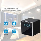 Mini HD 1080P Wireless Wi-Fi Clock Kamera-Schwarz
