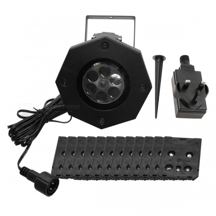 YWXLight joulu lumihiutale malli LED Projection Light (UK Plug)