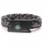 Outdoor-Camping-Multifunktions-Überlebens-Paracord-Armband-Kompass