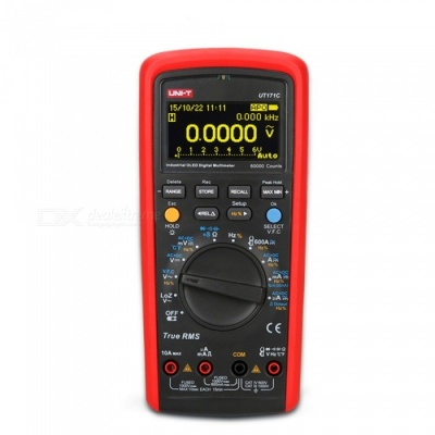 UNI-T UT171C Industrial RMS Multimeter with OLED Display - Red, Black