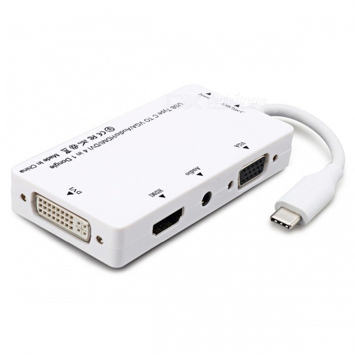 BSTUO-4-in-1-USB31-Type-C-to-HDMI-VGA-DVI-Audio-Adapter-White
