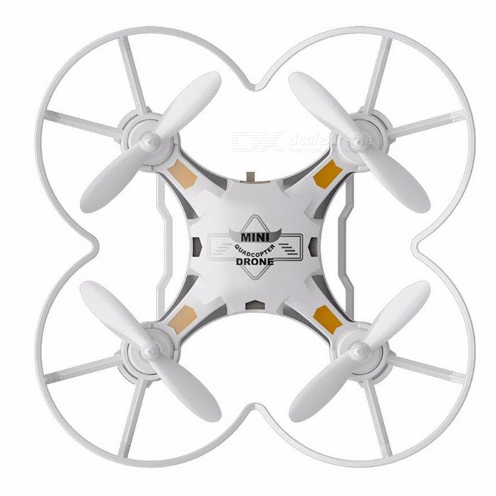 FQ777-124 Mini RC Quadcopter Drone with Headless Mode - WhiteR/C Airplanes&amp;Quadcopters<br>Form  ColorWhiteModelN/AMaterialABSQuantity1 DX.PCM.Model.AttributeModel.UnitShade Of ColorWhiteGyroscopeYesChannels Quanlity4 DX.PCM.Model.AttributeModel.UnitFunctionOthers,N/ARemote TypeRadio ControlRemote control frequency2.4GHzRemote Control Range50 DX.PCM.Model.AttributeModel.UnitSuitable Age 13-24 months,Grown upsCameraNoLamp NoBattery TypeLi-ion batteryBattery Capacity100 DX.PCM.Model.AttributeModel.UnitCharging TimeAbout 40 to 60 DX.PCM.Model.AttributeModel.UnitWorking Time4 to 5 DX.PCM.Model.AttributeModel.UnitRemote Controller Battery TypeAARemote Controller Battery Number4 x AA Battery ( Not included )Remote Control TypeWirelessModelOthers,N/APacking List1 x Quadcopter1 x Controller1 x Set of Propellers1 x Set of Landing Gears1 x Guard Circle1 x Lifting Rope1 x Cable1 x Bilingual User Manual in English and Chines<br>