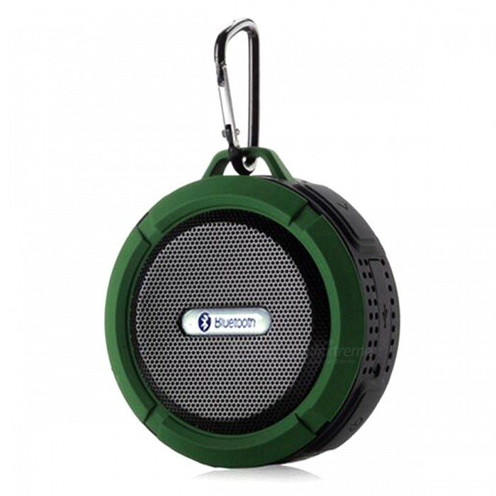 Buy C6 Portable Waterproof Wireless Bluetooth Speaker - Army Green with Litecoins with Free Shipping on Gipsybee.com