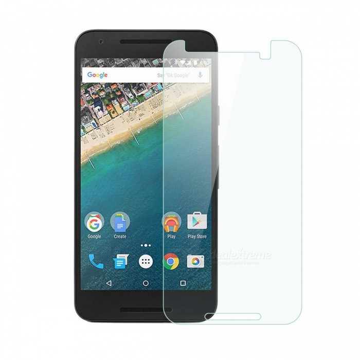 Dayspirit Tempered Glass Film for  LG Nexus 5X, Google Nexus 5XScreen Protectors<br>Form  ColorTransparentScreen TypeGlossyModelN/AMaterialTempered glassQuantity1 DX.PCM.Model.AttributeModel.UnitCompatible ModelsLG Nexus 5X / Google Nexus 5XFeaturesTempered glassPacking List1 x Tempered glass screen protector1 x Dust cleaning film 1 x Alcohol prep pad<br>