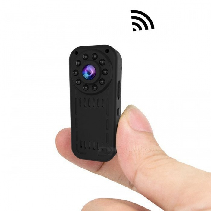 L16 HD 1080p Mini Wi-Fi Camera for IOS and Android Phones - BlackMini Cameras<br>Form  ColorBlack (1080P)Shade Of ColorBlackMaterialPlastic &amp; MetalQuantity1 DX.PCM.Model.AttributeModel.UnitImage SensorCMOSAnti-ShakeNoFocal Distance3.6 DX.PCM.Model.AttributeModel.UnitFocusing Range&gt;50cmEffective Pixels1920*1080ImagesJPEGStill Image Resolution1920*1080VideoAVIVideo Resolution1920*1080Video Frame Rate30Cycle RecordYesISONoExposure CompensationNoSupports Card TypeTFSupports Max. Capacity128 DX.PCM.Model.AttributeModel.UnitLCD ScreenNoBattery Measured Capacity 400 DX.PCM.Model.AttributeModel.UnitNominal Capacity400 DX.PCM.Model.AttributeModel.UnitBattery TypeLi-polymer batteryBattery included or notYesPacking List1 x Mini Camera1 x USB Charging Cable2 x Brackets1 x User Manual<br>