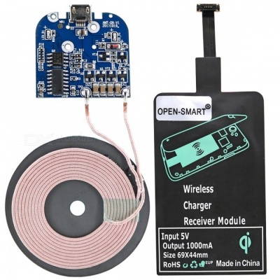 OPEN-SMART Wireless Charger Module Kit with Transmitter, Receiver