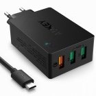 AUKEY-PA-T14-Wall-Charger-Quick-Charge-30-w-3-Ports-USB-Black-(EU)
