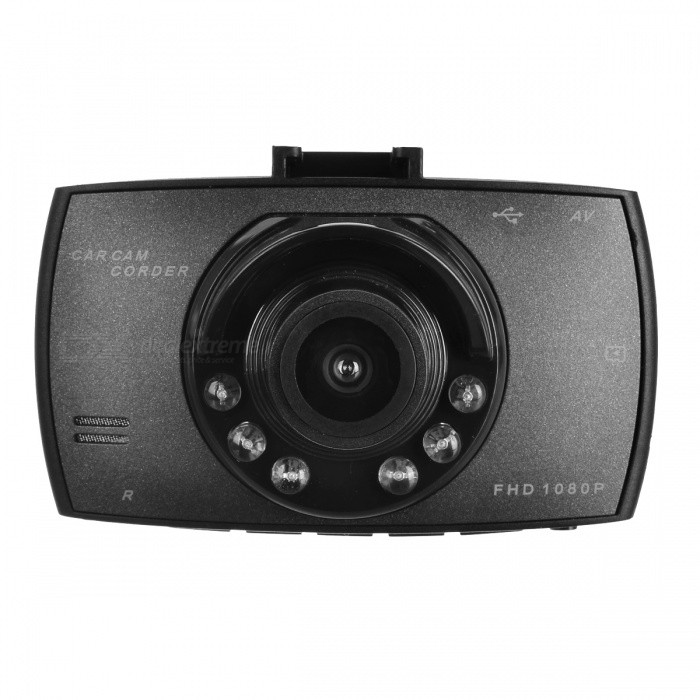 Car DVR Camera G30 Full HD 1080P 140 Degree Dash Cam - Black/Non Card
