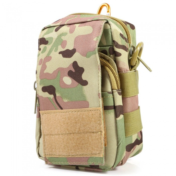 Multi-Functional Outdoor Tactical Small Pocket - Jungle CamouflageBike Bags<br>Form  ColorCamouflageQuantity1 DX.PCM.Model.AttributeModel.UnitMaterialNylonTypeOthersCapacity1-10 DX.PCM.Model.AttributeModel.UnitWaterproofNoBest UseMountain Cycling,Recreational Cycling,Road Cycling,Bike commuting &amp; touring,OthersPacking List1 x Tactical Waist Pack<br>