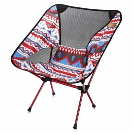 Multifunctional-Aluminum-Folding-Portable-Fishing-Chair-Red