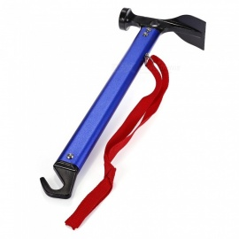 Aluminum-Alloy-Camping-Tent-Hammer-with-Hook-Blue-Red-Golden