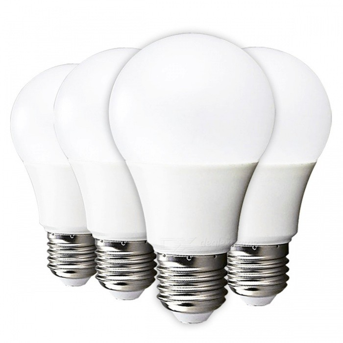LED Bulb Lamp E27 9W High Brightness Light Bulb / Warm White - 4PCS