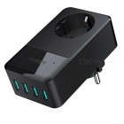 AUKEY-PA-S12-Wall-Charger-Built-in-Socket-with-4-USB-Ports-Black
