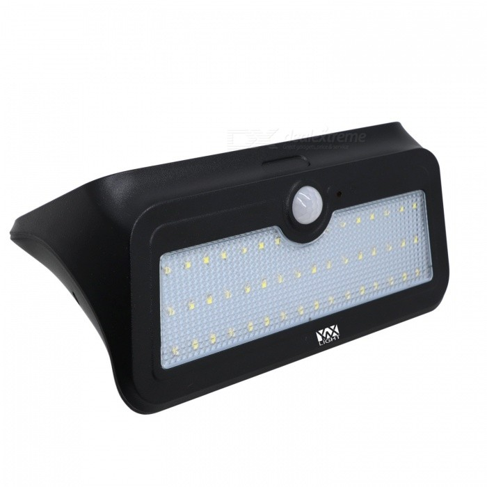YWXLight 4.5W 46-LED Solar Powered Light for Outdoor Lighting - BlackSolar Lamps<br>Form  ColorBlackMaterialPCQuantity1 DX.PCM.Model.AttributeModel.UnitWaterproof LevelIP65Emitter TypeOthers,2835Power4.5 DX.PCM.Model.AttributeModel.UnitWorking Voltage   5.5 DX.PCM.Model.AttributeModel.UnitLumens350-450 DX.PCM.Model.AttributeModel.UnitBattery Charging Time7 - 8 HoursPacking List1 x YWXLight Solar-Powered Light1 x User Manual (English)<br>