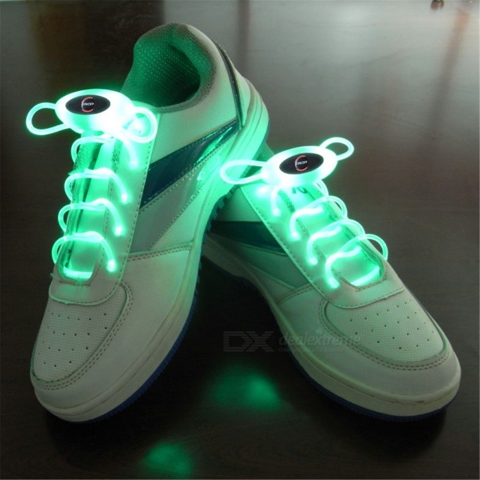 YWXLight Green 80cm Flash Light Glow LED Sport Shoe LacesLED Nightlights<br>Form  ColorGreenMaterialPCQuantity1 DX.PCM.Model.AttributeModel.UnitPower2WRated VoltageOthers,5 DX.PCM.Model.AttributeModel.UnitConnector TypeOthersColor BINGreenEmitter TypeLEDTotal Emitters1Theoretical Lumens200-300 DX.PCM.Model.AttributeModel.UnitActual Lumens100-200 DX.PCM.Model.AttributeModel.UnitColor Temperature12000K,OthersDimmableYesInstallation TypeOthersPacking List1 Pair x YWXLight Shoelaces<br>