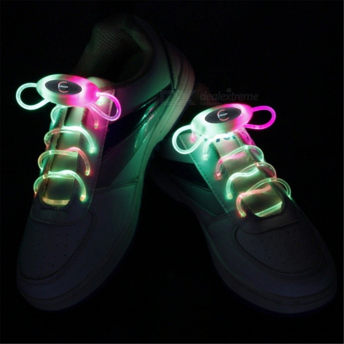 YWXLight RGB 80cm Flash Light Glow LED Sport Shoe LacesLED Nightlights<br>Form  ColorRGBMaterialPCQuantity1 DX.PCM.Model.AttributeModel.UnitPower2WRated VoltageOthers,5 DX.PCM.Model.AttributeModel.UnitConnector TypeOthersColor BINRGBEmitter TypeLEDTotal Emitters1Theoretical Lumens200-300 DX.PCM.Model.AttributeModel.UnitActual Lumens100-200 DX.PCM.Model.AttributeModel.UnitColor Temperature12000K,OthersDimmableYesInstallation TypeOthersPacking List1 Pair x YWXLight Shoelaces<br>