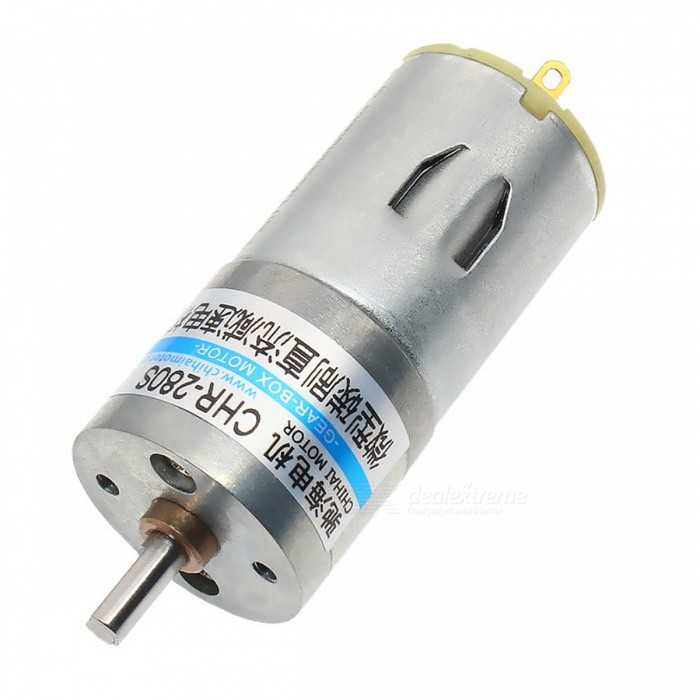 ChiHai Motor CHR-GM25-280S DC High Torque Electronic Gear Motor 3V 6VMotors<br>Form  ColorSilver + Light GreyModelCHR-GM25-280S-34Quantity1 DX.PCM.Model.AttributeModel.UnitMaterialZinc alloy + iron + copper + graphite + nylonRate Voltage6.0VPower Range1.0~7.0VInput VoltageDC6.0 DX.PCM.Model.AttributeModel.UnitRevolutions Per Minute (RPM)290RPMWorking Current0.75 DX.PCM.Model.AttributeModel.UnitWorking Temperature-0~60 DX.PCM.Model.AttributeModel.UnitEnglish Manual / SpecNoDownload Link   NoCertificationNoOther FeaturesNoPacking List1 x Gear motor<br>