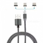 Cwxuan 3-in-1 Micro USB, Type-C, 8 Pin Magnetic Charging Cable Kit