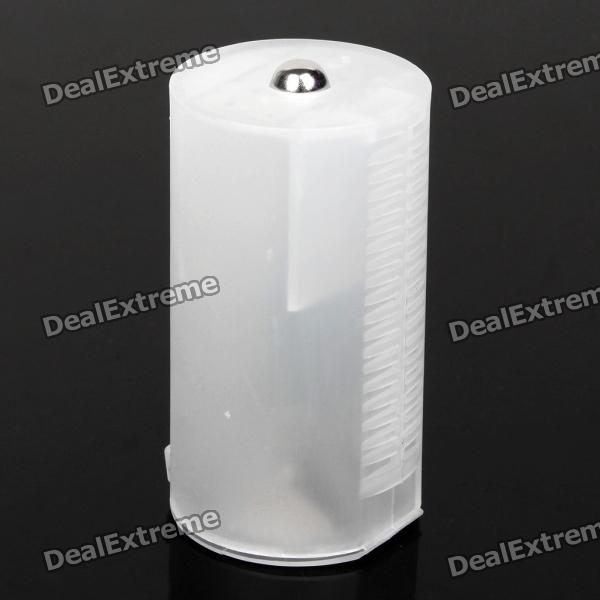 Translucent 2*AA-to-D Type Battery Converter Case