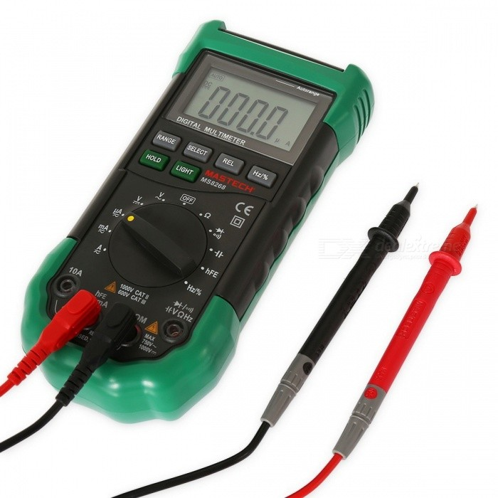 MASTECH MS8268 Auto Range Digital Multimeter with Sound, Light Alarm