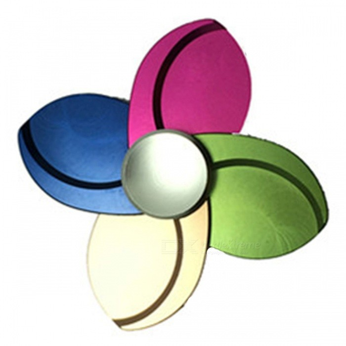 Four Flower Shape Anti-Stress Fidget Finger Toy Spinner - MulticolorFinger Toys<br>Form  ColorMulticolorMaterialMetalQuantity1 DX.PCM.Model.AttributeModel.UnitSuitable Age 8-11 years,12-15 years,Grown upsPacking List1 x Fingertip gyroscope<br>