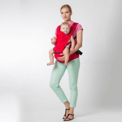 Multifunction Breathable Newborn Baby Infant Carrier Sling - Red