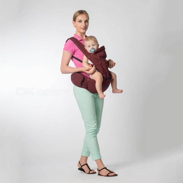 Multifunction Breathable Newborn Baby Infant Carrier Sling - Wine Red